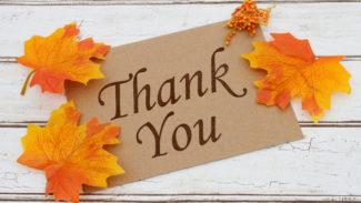 Fundraise thank you autumn