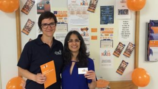 Fundraising - Community - Melanie Martin and Sangita Agarwal - Guy's Stand