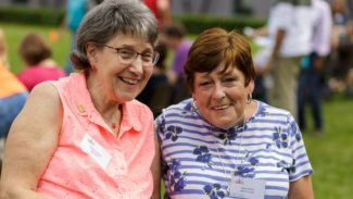 Diane and Gillian smiling at NASS Members Day