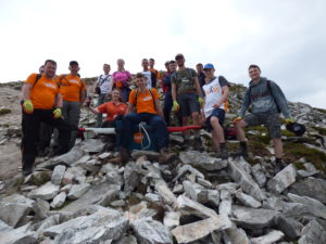 fundraise on mount errigal