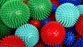 Photo of spikey massage balls