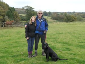 Rory with wife Sheila and Sheila, and with my dog, Matilda