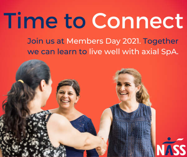 """Time to Connect, Join us at Members Day 2021. Together we can learn to live well with axial SpA."""
