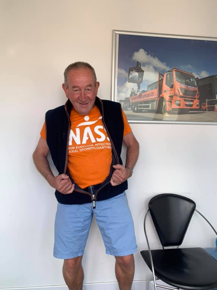Steve Philips in NASS t-shirt