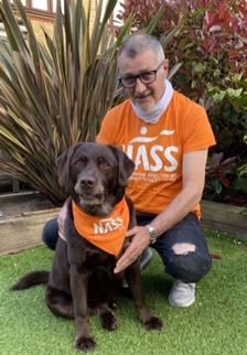 Martin in NASS t-shirt Walk your AS Off 2021