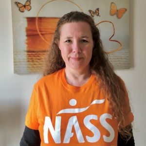 Veronica in NASS t-shirt Walk Your AS Off 2021