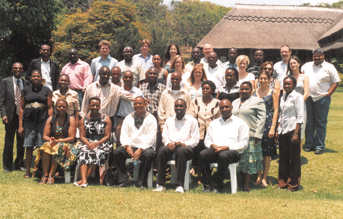 Dale and the team in Malawi