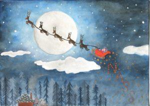 NASS Christmas Cards: Santa and his Sleigh
