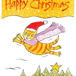 NASS Christmas Cards: Stretching Cat